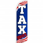 Tax Service Patriotic Extra Wide Windless Swooper Flag
