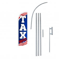 Tax Service Extra Wide Windless Swooper Flag Bundle