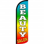 Beauty Salon Rainbow Extra Wide Windless Swooper Flag