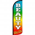 Beauty Salon Rainbow Extra Wide Windless Swooper Flag