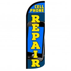 Cell Phone Repair Extra Wide Windless Swooper Flag
