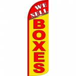 We Sell Boxes Extra Wide Windless Swooper Flag