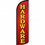 Hardware Red Extra Wide Windless Swooper Flag