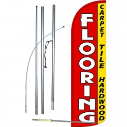 Flooring Extra Wide Windless Swooper Flag Bundle
