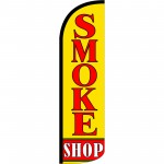 Smoke Shop Extra Wide Windless Swooper Flag
