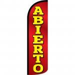 Abierto(Open) Extra Wide Windless Swooper Flag