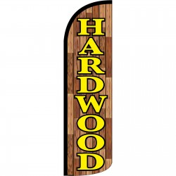 Hardwood Extra Wide Windless Swooper Flag