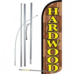 Hardwood Extra Wide Windless Swooper Flag Bundle