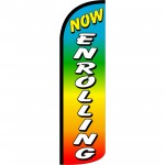 Now Enrolling Rainbow Extra Wide Windless Swooper Flag