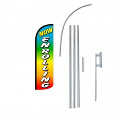 Now Enrolling Rainbow Extra Wide Windless Swooper Flag Bundle