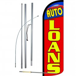 Auto Loans Extra Wide Windless Swooper Flag Bundle
