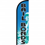 Bail Bonds Extra Wide Windless Swooper Flag