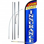 Low Cost Insurance Extra Wide Windless Swooper Flag Bundle