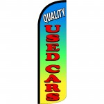 Quality Used Cars Extra Wide Windless Swooper Flag