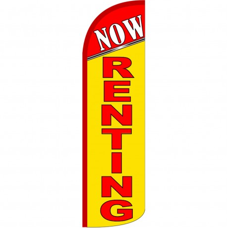 Now Renting Extra Wide Windless Swooper Flag