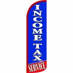 Income Tax Service Blue Extra Wide Windless Swooper Flag