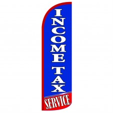 Income Tax Service Extra Wide Windless Swooper Flag