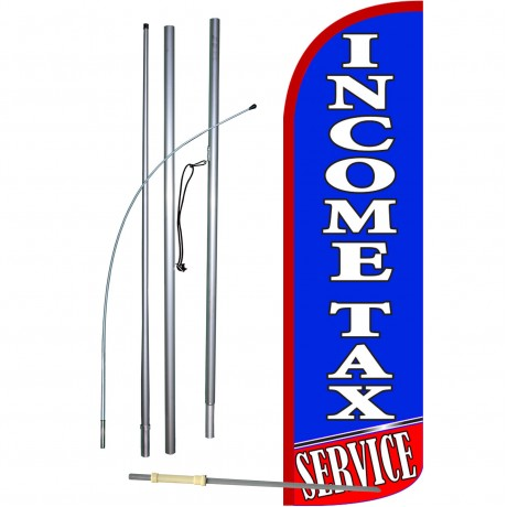 Income Tax Service Extra Wide Windless Swooper Flag Bundle