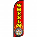 Wheels Extra Wide Windless Swooper Flag