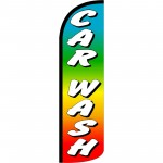 Car Wash Rainbow Extra Wide Windless Swooper Flag