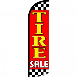 Tire Sale Red Extra Wide Windless Swooper Flag
