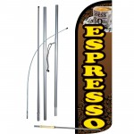 Espresso Extra Wide Windless Swooper Flag Bundle