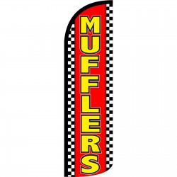 Mufflers Red Extra Wide Windless Swooper Flag