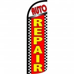 Auto Repair Extra Wide Windless Swooper Flag