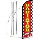 Radiator Service Extra Wide Windless Swooper Flag Bundle