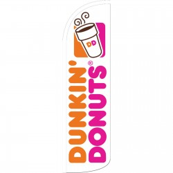 Dunkin Donuts Extra Wide Windless Swooper Flag