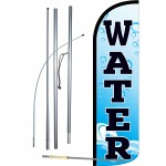Water Extra Wide Winldess Swooper Flag Bundle