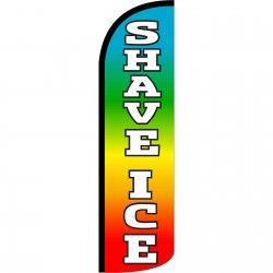 Shave Ice Extra Wide Windless Swooper Flag