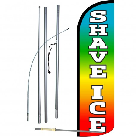 Shave Ice Extra Wide Windless Swooper Flag Bundle