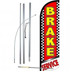 Brake Service Extra Wide Windless Swooper Flag Bundle