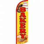 Bakery Yellow Extra Wide Windless Swooper Flag