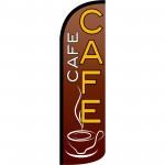 Café Extra Wide Windless Swooper Flag