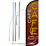 Café Extra Wide Windless Swooper Flag Bundle