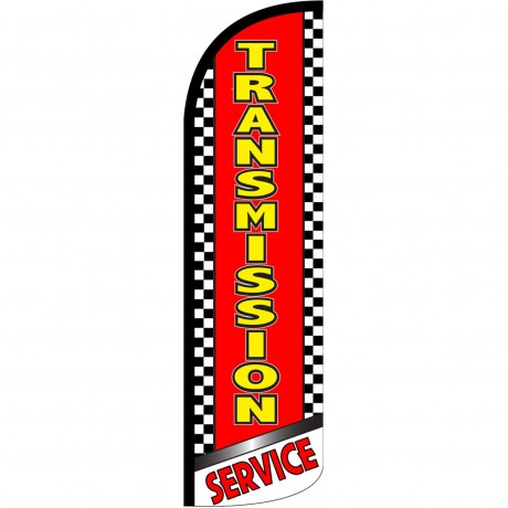 Transmission Service Extra Wide Windless Swooper Flag