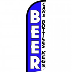 Beer Blue Extra Wide Windless Swooper Flag
