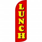 Lunch Red Extra Wide Windless Swooper Flag