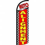 Auto Alignment Extra Wide Windless Swooper Flag