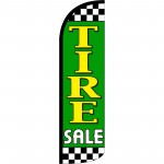 Tire Sale Green Extra Wide Windless Swooper Flag