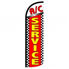 AC Service Extra Wide Windless Swooper Flag