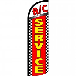 A/C Service Extra Wide Windless Swooper Flag