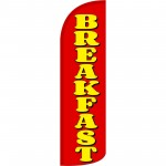Breakfast Extra Wide Windless Swooper Flag
