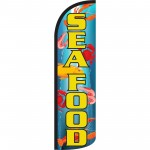 Seafood Extra Wide Windless Swooper Flag