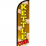 Kettle Corn Brown Extra Wide Windless Swooper Flag