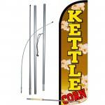 Kettle Corn Brown Extra Wide Windless Swooper Flag Bundle