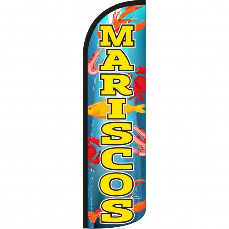 Mariscos Extra Wide Windless Swooper Flag