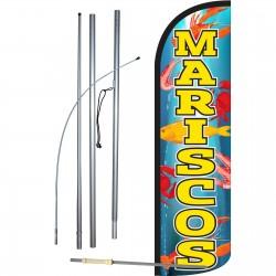 Mariscos Extra Wide Windless Swooper Flag Bundle